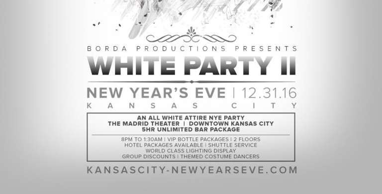 Tickets NOW ON SALE – Kansas City New Year's Eve 2017 – White Party II