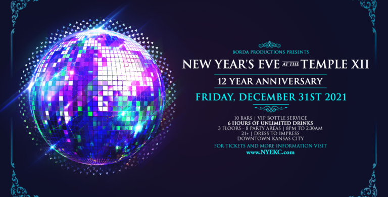 PLEASE VISIT OUR SISTER EVENT AT NYEKC.com—> NYE at The Temple XII. The Temple is the BIGGEST and BEST NYE in KC!!